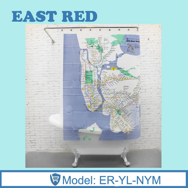 Ny Subway Map Shower Curtain.Us 36 56 Custom New York City Underground Tube Subway Map Shower Curtain 180 180cm Bathroom Decor In Shower Curtains From Home Garden On