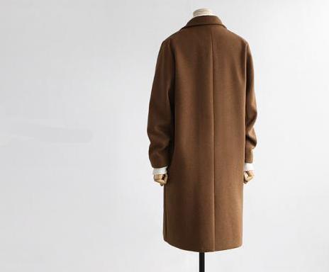 Long Veste Hiver Mode camel 2018 breasted Moyen Laine Black Nouvelles Manteau gray Lâche Double Femmes De Mélanges STH8gf