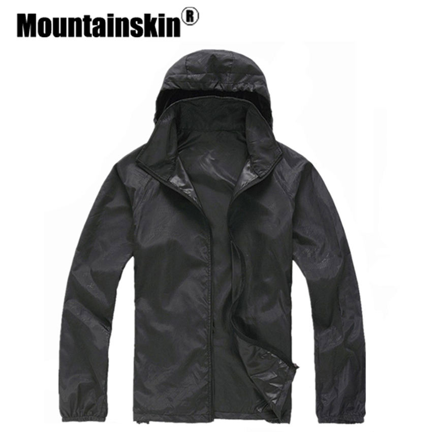 Новый Для Мужчинs быстросохнущая кожи Куртки Для женщин Пальто для будущих мам ультра-легкий Повседневное ветровка Водонепроницаемый ветр...