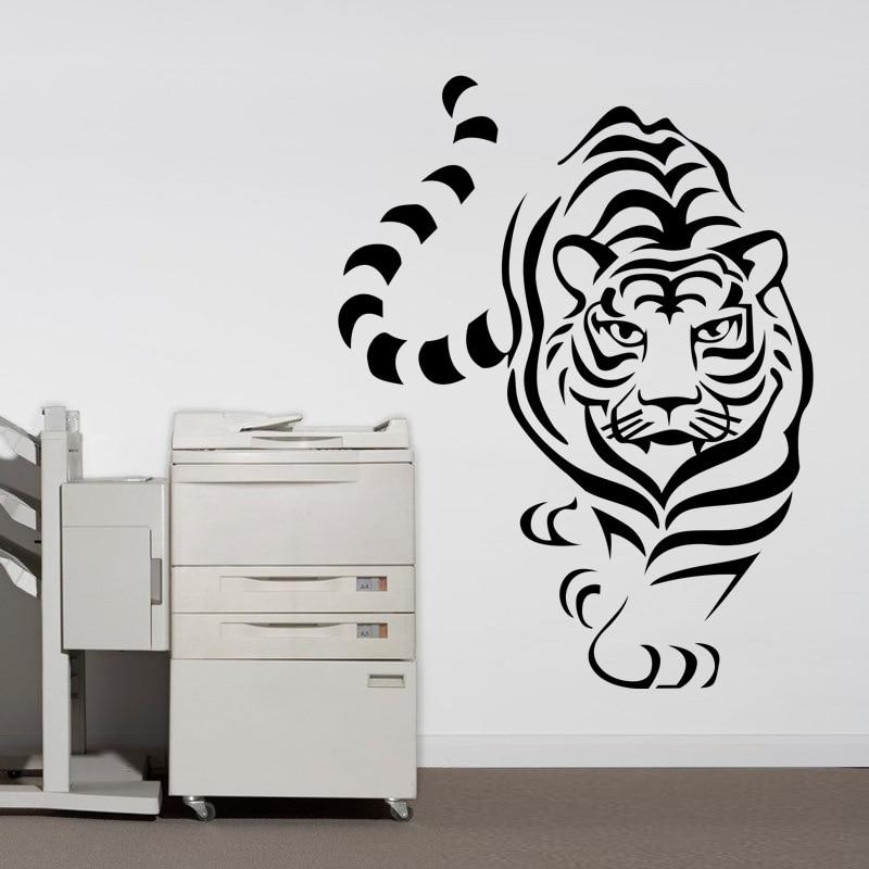 Singolo Scavare Tigre Animale Combinazione Wall Stickers Adesivo De ...