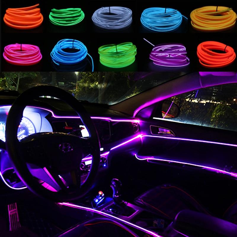 10 Color Motorcycle Decorative Lamp Car LED Strips Decoration Strip Flexible Universal Interior LED Light Strip Auto Accessories