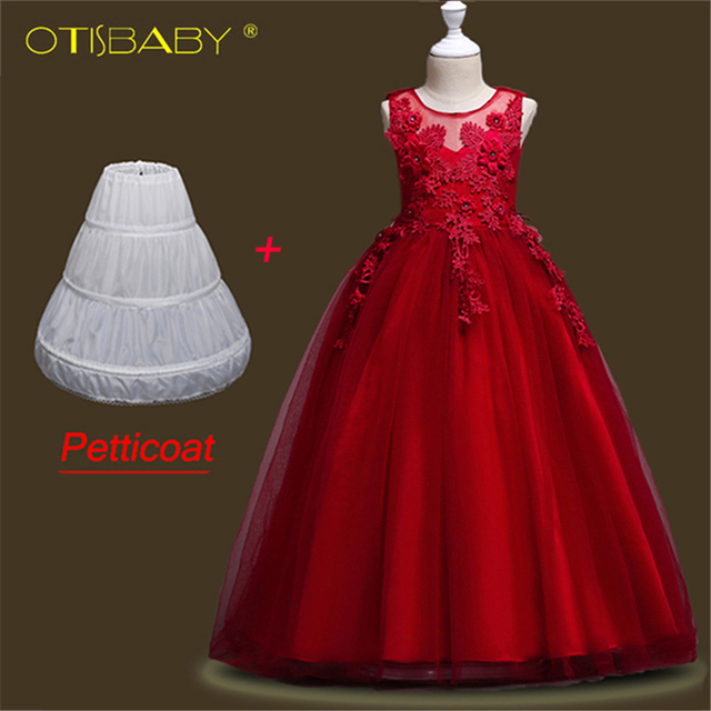 Butterfly Kids Eleghant Pageant Dress Children Evening Gowns Lace Sleeveless Ball Gown Flower Girls Dresses For Wedding Ceremony