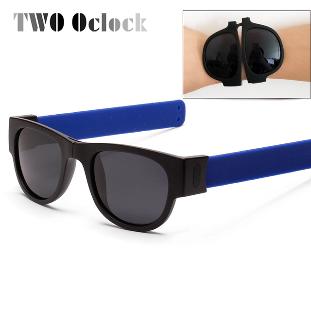 24c1a2d68c3 TWO Oclock Unisex Outdoor Goggles Portable Pops Sunglasses Men Women  Wristband Sun Glasses Folding Eyewear Oculos lunette P1801