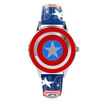 Disney Brand Children S Watches Captain America Anime 30m Waterproof Quartz Watch Boy Girl MIYOTA Citizen