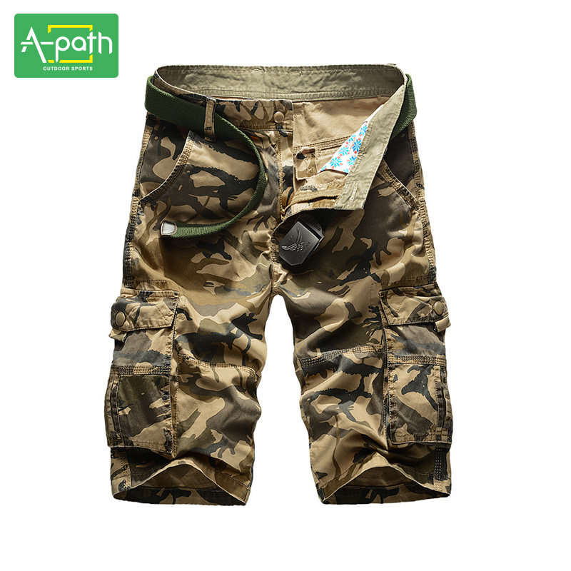 summer style outdoor camping hunting beach cargo short men pocket many man camouflage tooling shorts