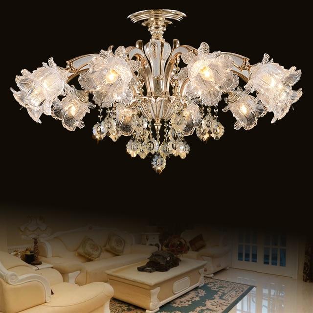 Moderne deckenleuchte für wohnzimmer runde kristall führte moderne ...