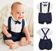 Summer baby boys clothing set 1 year birthday clothes infant gentleman baby boy party suit wedding kids baby boy baptism clothes
