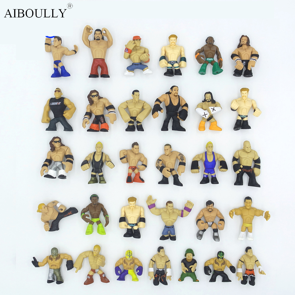 31pcs/lot Version juguetes RAW America occupation wrestling gladiators wrestler action figure toys Collection of wrestling hobby