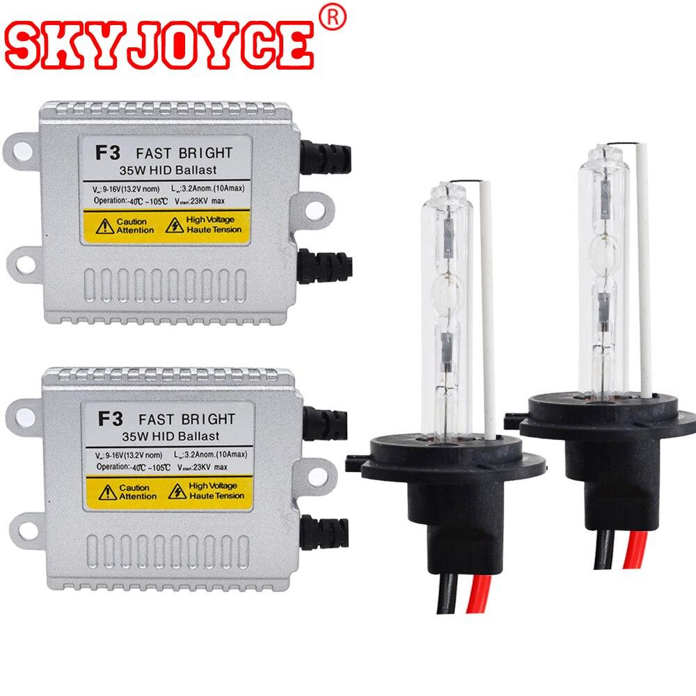 SKYJOYCE AC 35 W HID kit lampe xénon h1 3000 K 6000 K 4300 K H7 phare xénon H8 H11 9005 9006 880 jaune D2H HID Kit de Conversion F3