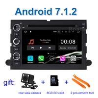 2 GB RAM Android 7.1 Jogador Do Carro DVD GPS para Ford Fusion Explorer 500 Borda Expedition Mustang F150 F250 F350 com Wi-fi de Rádio BT