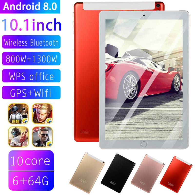2019 Andriod 8.0 Ten Core 6G 10.1Inches  Screen New Original Dual SIM 4G Phone Tablet PC Mic WIFI RAM+16/64/128G Tablet HD