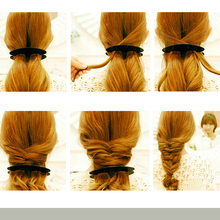 KemeiBlack Plastic Hair Braiding Weave Braider Roller Twist