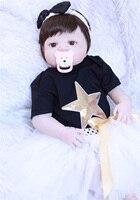 NPKCOLLECTION 55 см полный Силиконовый reborn Игрушки для маленьких девочек реалистичные 22 винил новорожденный малыш кукла для сна игрушка для прода