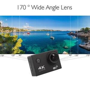 Image 5 - F600 F600R 4K Wifi kamera akcji 16MP 170D Sport DV 30M 1080P przejść wodoodporny Pro ekstremalne sporty wideo rower kask kamera samochodowa Dvr