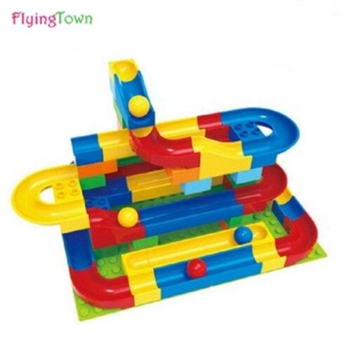 72 Pcs track ball Building Bricks Set City DIY Creative Bricks Toys For Child Educational enlightenment education toys