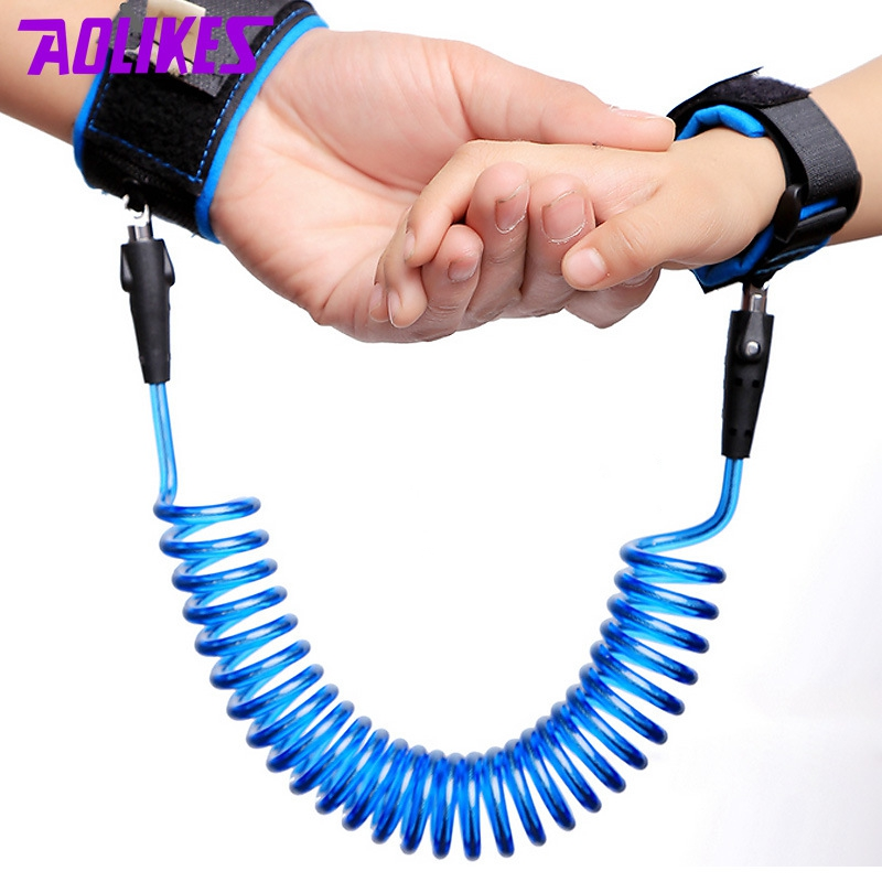 AOLIKES Outdoor Travel Anti-lost Wristband For Kids 1-10 Years old Parenting Wrist band Wrist Straps Wraps Wholesale ...