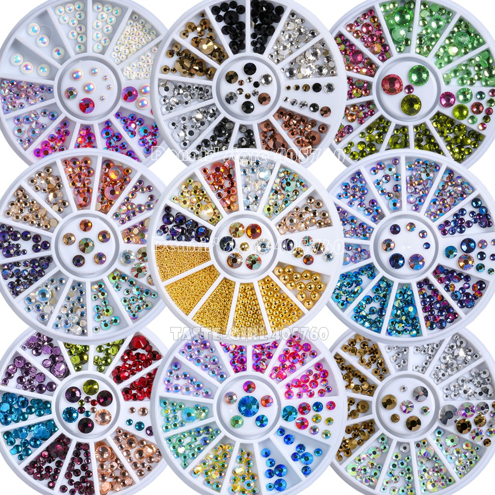 Rhinestones Round Acrylic Nail Art Craft Gems Diamond