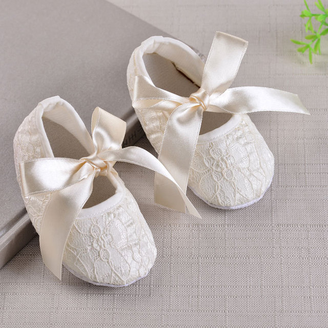 Autumn Soft Soled Baby Girls Shoe Cute  Boots Christening Baptism Shoes