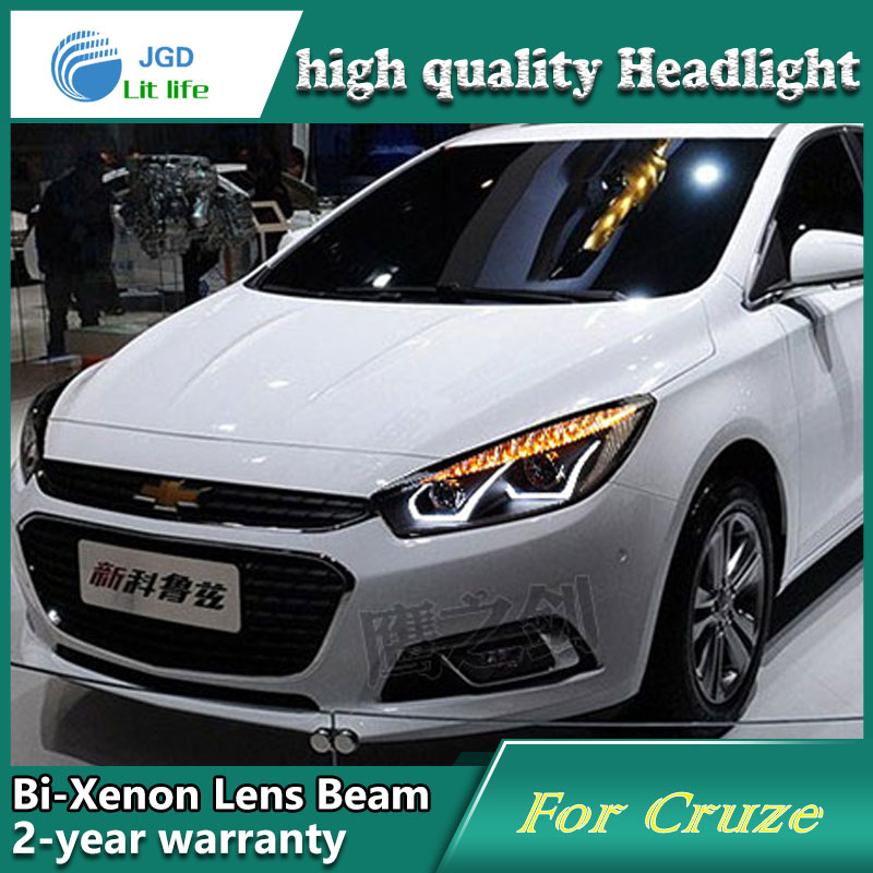 high quality Car styling case for Chevrolet Cruze 2015 Headlights LED Headlight DRL Lens Double Beam HID Xenon Car Accessories high quality car styling case for mitsubishi lancer ex 2009 2011 headlights led headlight drl lens double beam hid xenon