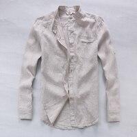 Italy Brand Pure Linen Shirts Men Long Sleeve Flax Men Shirt Summer Spring Fashion Shirt Men