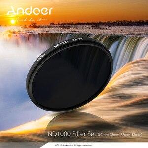 Image 5 - Andoer 72 Mm ND1000 10 Ngăn Ví Da Cá Cho Các Dòng Máy Ảnh Nikon Canon DSLR Camera