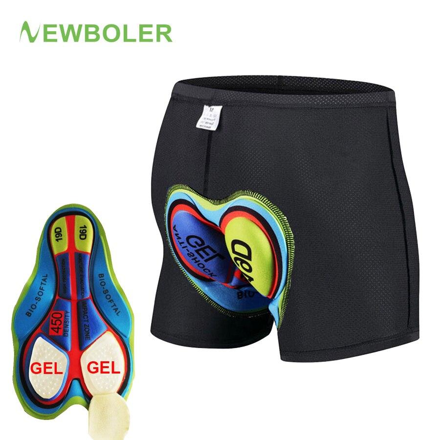 6169060f0a60b1 2019 MTB pantalones cortos de ciclismo hombres mujeres ropa interior  deportiva almohadilla de GEL a ...