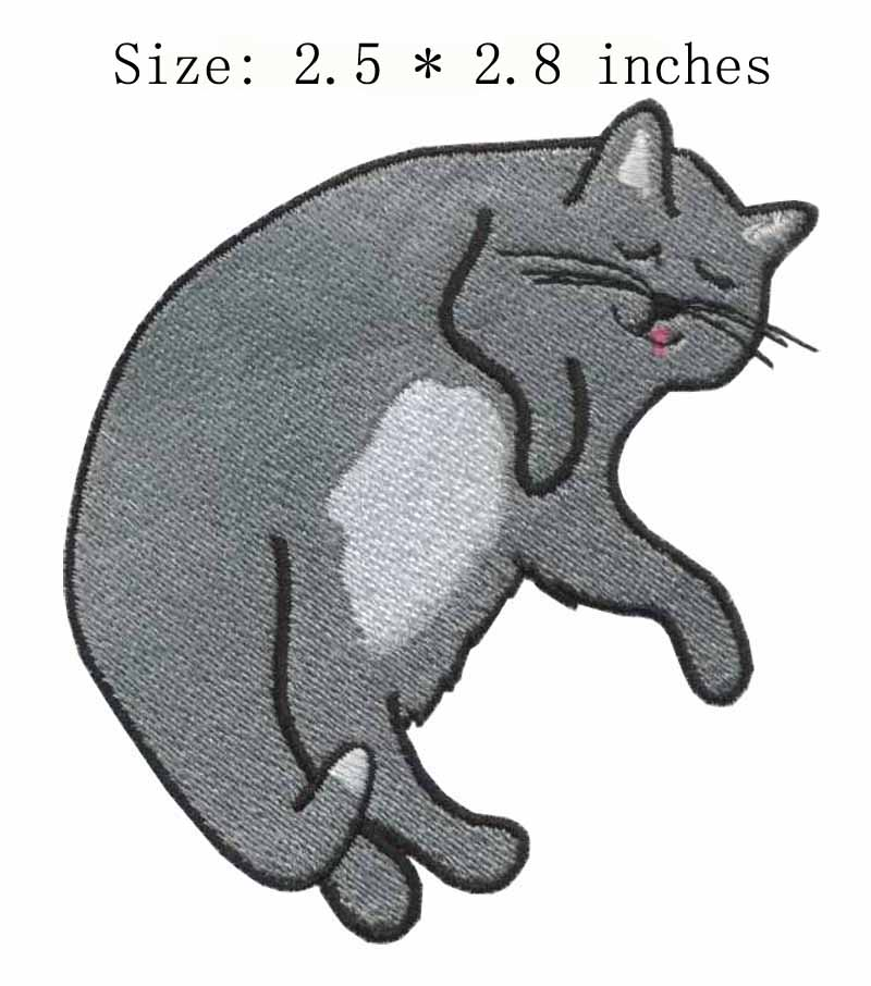 Fearful That They Will Be Seen As Lazy >> Lazy Cat 2 5 Wide Embroidery For Missing Someone Fearful On