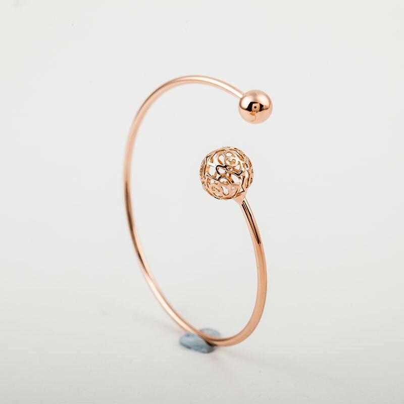 Best Fashion Charm Women Flower Crystal Gold Plated Cuff Bracelet Bangle Jewelry