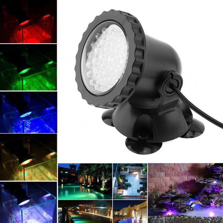 5pcs 12v Led Underwater Spotlight Lamp 7 Colors Changing