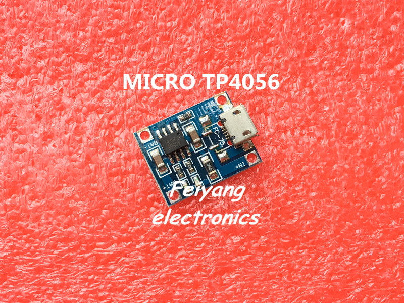 10pcs lot TP4056 1A Lipo Battery Charging Board Charger Module lithium battery DIY MICRO Port Mike