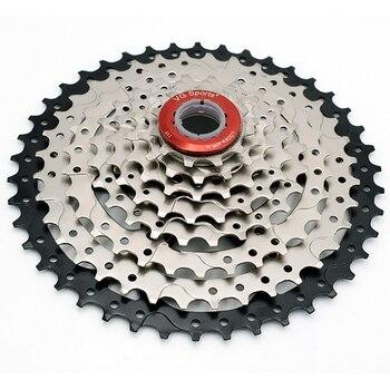 VG Sports 8 Speed 11-42T MTB Cassette Bicycle Freewheel Sprocket Cdg 8S Mountain Bike Freewheel 42T Ultralight 441g
