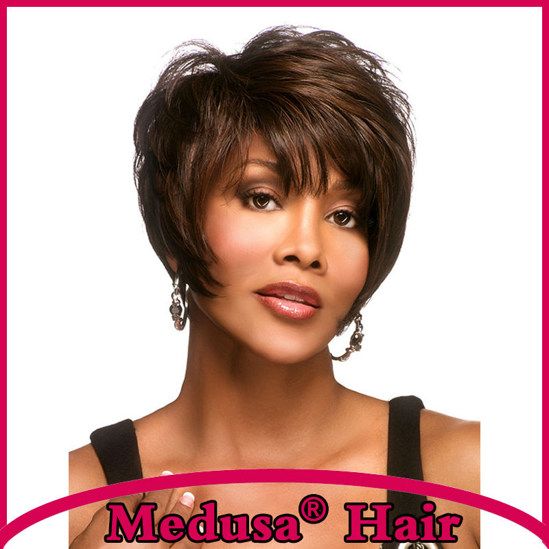 Medusa hair font b products b font Synthetic african american wigs Stunning shag font b styles
