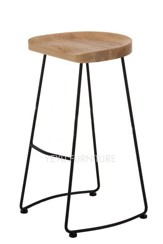 Minimalist Modern Design Solid Wood And Metal Steel Leg