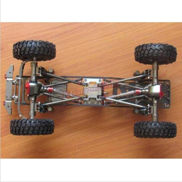 Aleación RC scx10 1/10 Básculas 4wd Rock crawler chasis Marcos kit ...