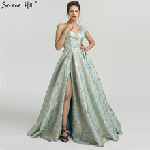 SERENE HILL One Shoulder Vintage Sexy Evening Dresses 2019