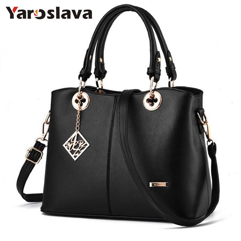 2018 New Women Bag Ladies Shoulder Bag High Quality PU Leather Ladies Handbag Large Capacity Tote Big Female Shopping Bag  LL491