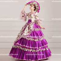 HOT Global Freeshipping Rococo Princess Gown Marie Antoinette Dress 18th Century Party Dress Belle Gown