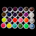 Amazed 24 PCS Glitter Mix Color UV Builder Gel Acrylic Set For Nail Art Tips # Glitter24