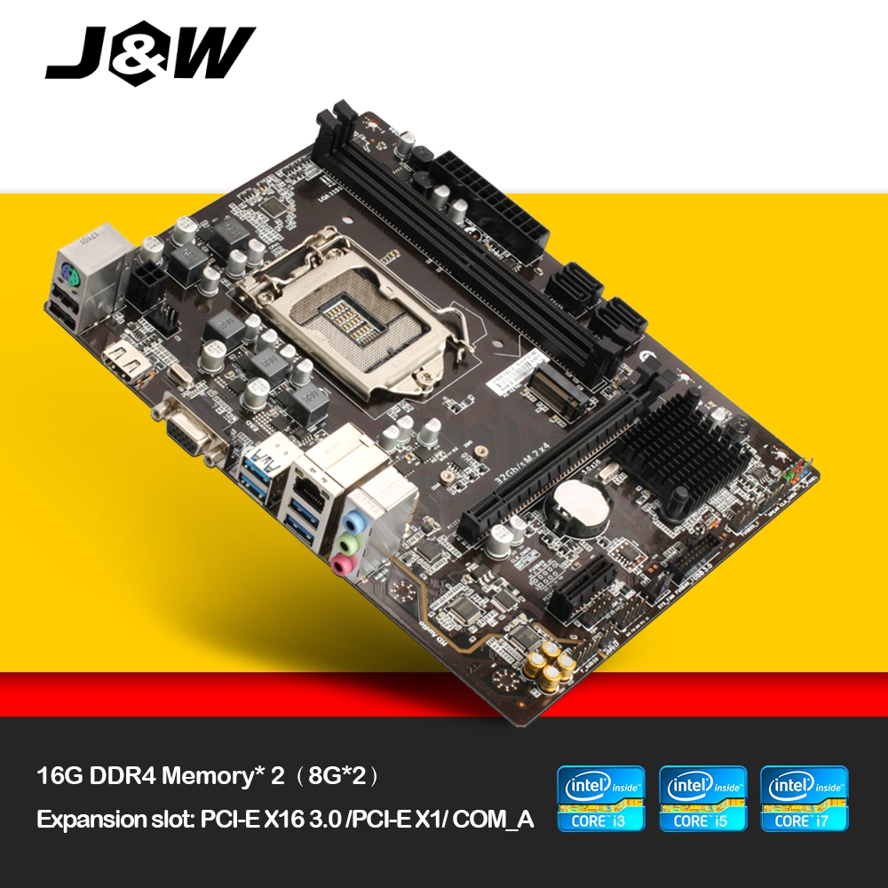 JW Intel B250-MG2D-J2 Motherboard LGA 1151 DDR4 Board for Computer Desktop board VGA/HDMI/USB2.0/PCI-E 3.0/PCI-E X16/SATA/M.2 full compatible for intel and for a m d motherboard pc12800 1600mhz desktop memory ram ddr3 8gb