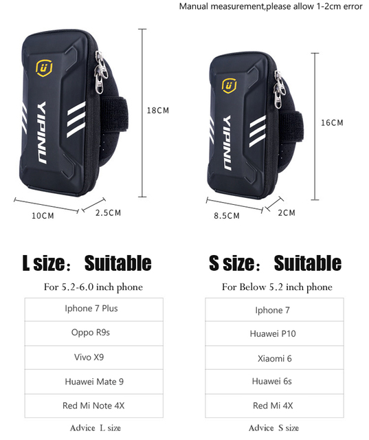 Waterproof Unisex Reflective Running Bag Phone Case Cover Sport Armband Wrist Bag Cycling Hiking Fitness Wristlet Pouch 4
