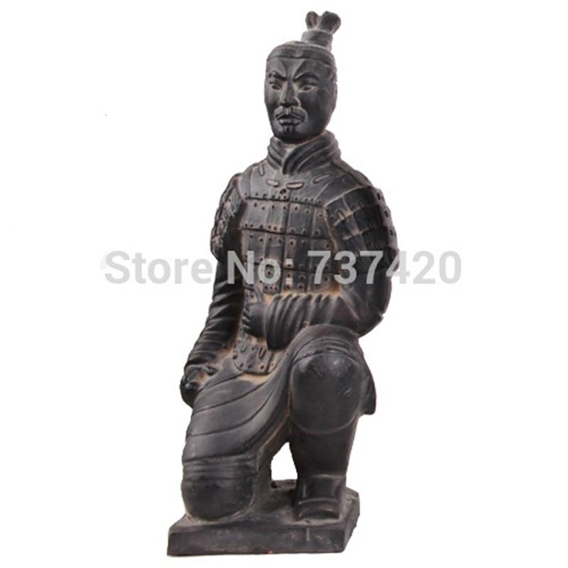New China antique imitation soldier sculpture Terracotta crafts ornaments Qin Terracotta Warriors and Horses handmade souvenir ...