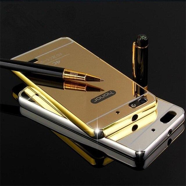 01 HQ Aluminum Metal + Acrylic Mirror Battery Back Cover Case for Huawei G Play Mini CHC-U01 chc u01 / Honor 4C 4 C CHM-U01