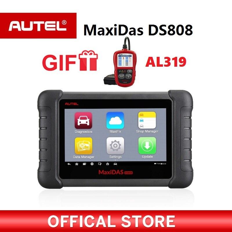 Autel Maxidas DS808 диагностический сканер OBD2 автомобильной инструмент OBDII ключ кодирования PK autel Maxisys MS906 MK808 код читателя подарок AL319