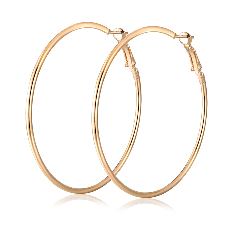 Super Big Circle Hoop Earrings for Women Big Round Earrings Basketball Wives Trendy Fashion Large Earrings Jewelry Bijoux Trendy