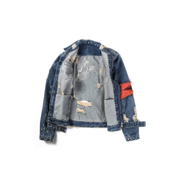 Youth Personality Fashion Classic Broken Zipper For Old Denim Jacket Bule Black Exquisite Jeans Jackets Coats Trend Men Clothing 1