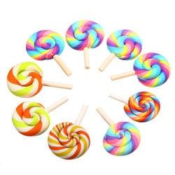100 шт. смешанные конфеты сладости Craft игрушечные лошадки смолы Flatback слизь Бусины Изготовления поставки для поделок, скрапбукинга