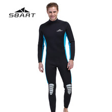 SBART Mannen Duiken Wetsuit Kite Surfen Snorkelen Full Body Badmode Water Sport Triathlon Spearfishing Pak 3mm Neopreen(China)