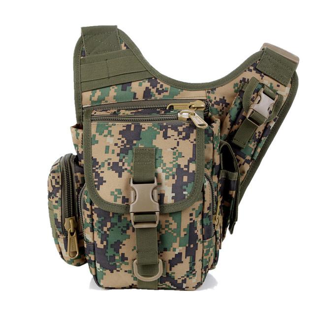 Cámara bolsa de Mensajero ejército hombres mujeres wasit bolsa Táctica de camuflaje Duradero solo bolso de hombro ocasional paquete de silla de montar Z50