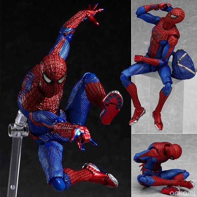 6 ''15 cm PVC Movable Figura de Ação do Homem Aranha Figura The Amazing Spiderman Figma 199 Final da liga da Justiça aranha -homem Brinquedos