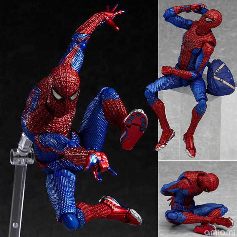 6'' 15CM PVC Movable Spider Man Action Figure The Amazing Spiderman Figure Figma 199 Ultimate Justice league spider-man Toys free shipping the avengers the amazing spider man movie spiderman will light 17cm pvc action figure toys new christmas gifts